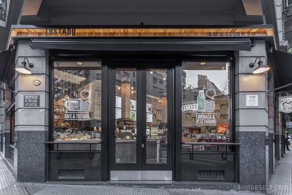 阿根廷布宜诺斯艾利斯 Tostado 咖啡店设计 店面设计 商业空间设计 咖啡店设计 SI设计