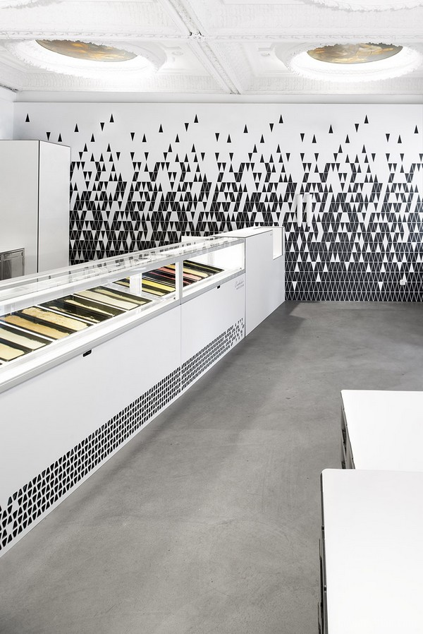 奥地利林茨市 EISDIELER 冰淇淋店设计 店面设计 冷饮店设计