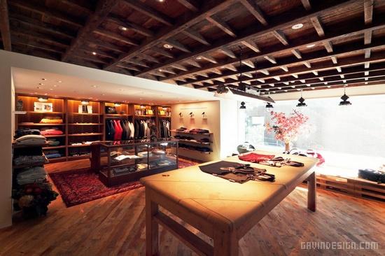 Woolrich John Rich & Bros 东京旗舰店设计 男装店设计 旗舰店设计 店面设计
