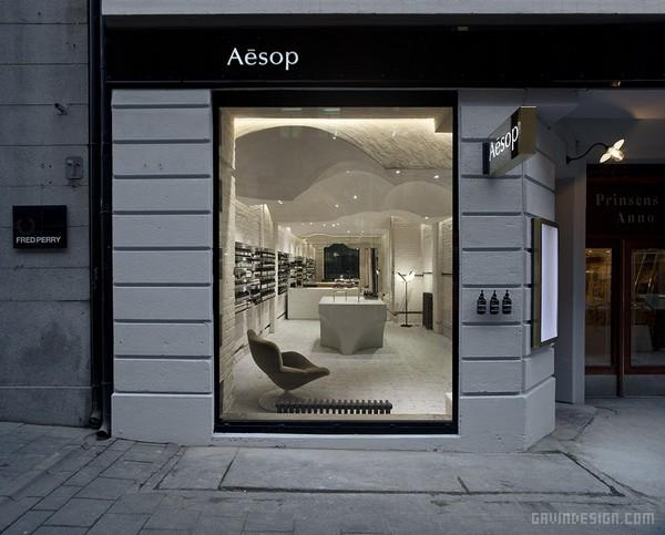 挪威奥斯陆 Aesop 品牌化妆品店设计 店面设计 商业空间设计 化妆品店设计