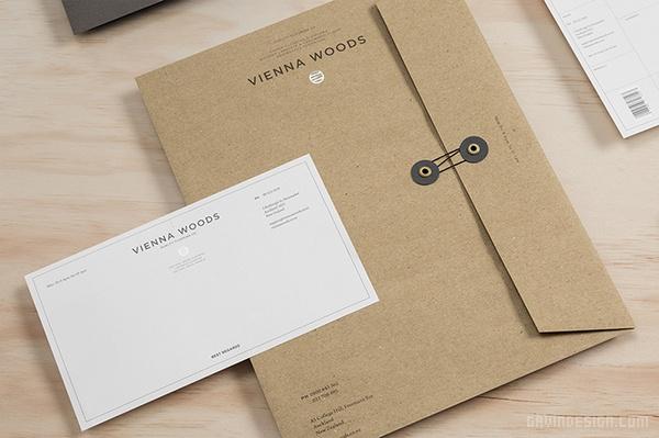 新西兰 Vienna 木地板企业 VI设计 画册设计 标志设计 名片设计 VI设计 SI设计