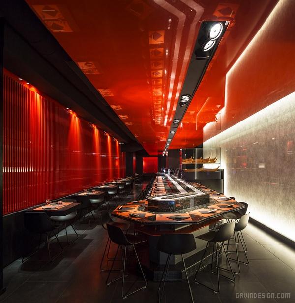 意大利罗马 Zen 寿司餐厅设计 餐厅设计 店面设计 寿司店设计 商业空间设计