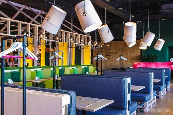 俄罗斯 Green Villa Pizza 咖啡厅设计 餐厅设计 酒吧设计 店面设计 咖啡厅设计 俄罗斯