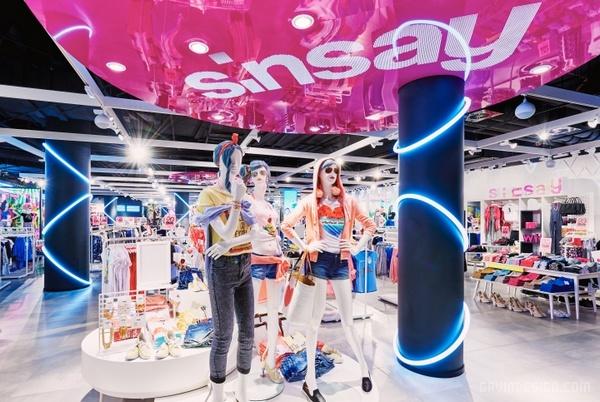 波兰 Sinsay 服装店设计 服装店设计 店面设计 商业空间设计 专卖店设计