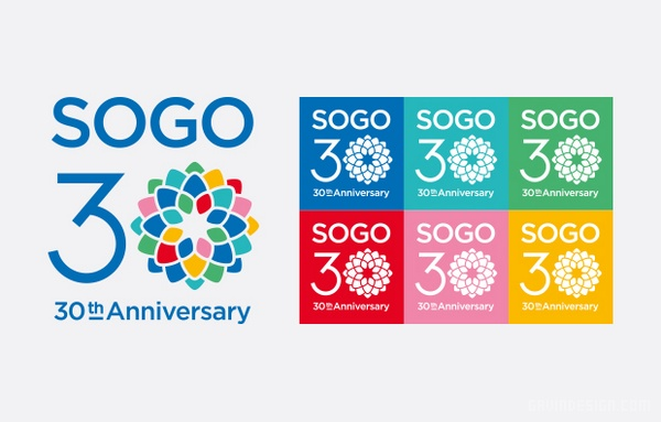 崇光百货(Sogo)30周年标志、吉祥物设计 海报设计 标志设计 吉祥物设计