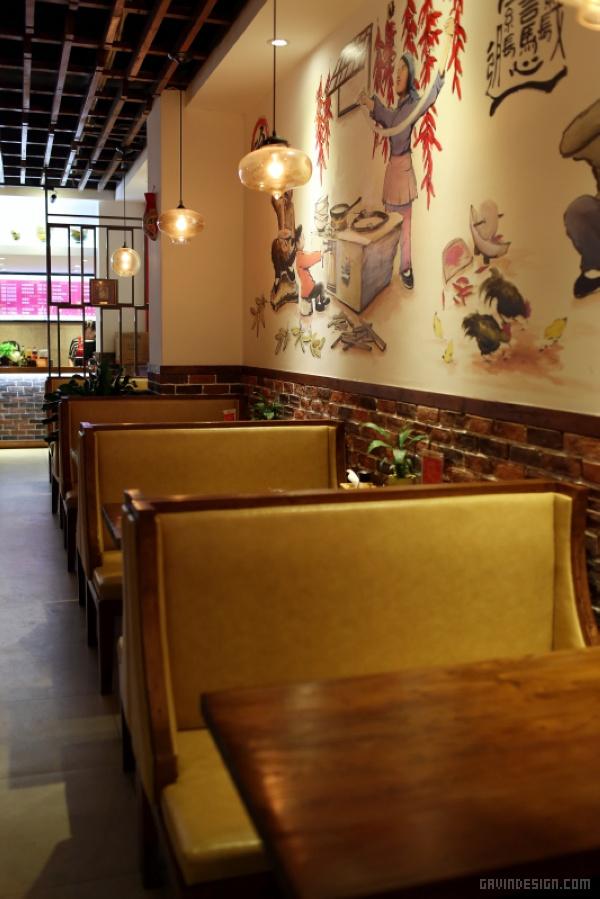 青岛秦岛人家餐厅设计 餐厅设计 面馆设计 店面设计 商业空间设计