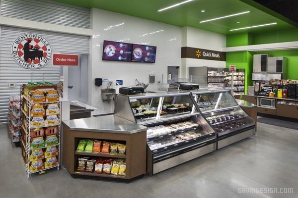 walmart to go 便利店设计 店面设计 商业空间设计 便利店设计 si设计