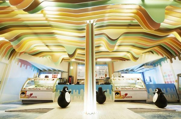 挪威奥斯陆 Ice Cream Castle 冰淇凌店设计 店面设计 商业空间设计 冰淇凌店设计 专卖店设计