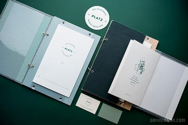 德国巴伐利亚 PLATZ 餐厅VI设计 菜单设计 海报设计 德国 店面设计 品牌形象设计 VI设计 SI设计