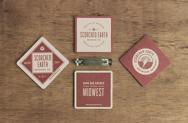 Scorched 啤酒品牌VI设计 海报设计 标志设计 名片设计 包装设计 VI设计