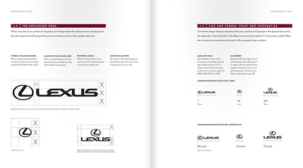 雷克萨斯(Lexus)VI设计 美国 VI设计