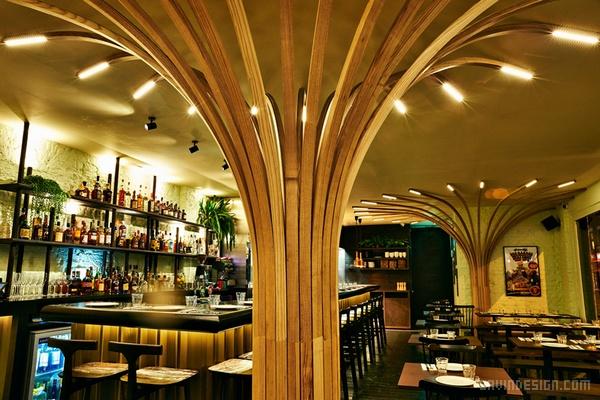 伦敦 rudie's 牙买加餐厅设计 餐厅设计 店面设计 商业空间设计 印度