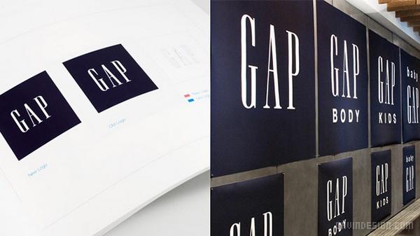 Gap 服装品牌VI设计 美国 画册设计 标志设计 VI设计 APP设计
