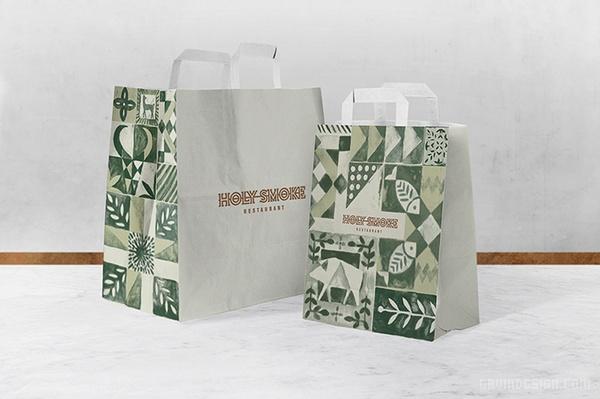 HOLY 餐厅品牌VI形象设计 餐厅设计 名片设计 包装设计 VI设计 SI设计