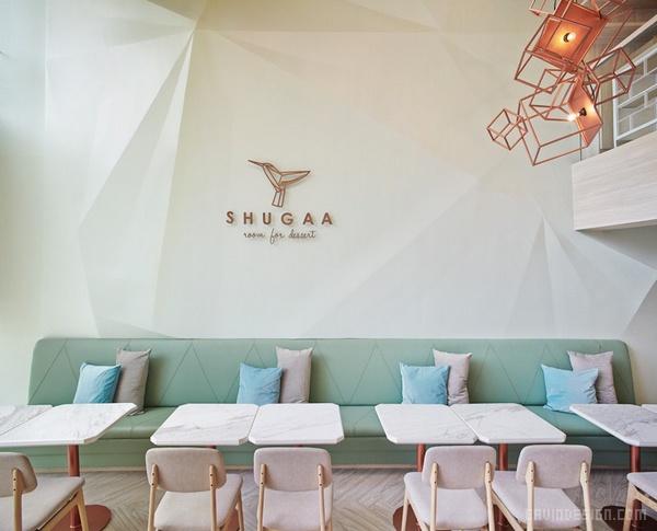 曼谷 SHUGAA 甜点餐厅设计 餐厅设计 甜品店设计 店面设计 商业空间设计