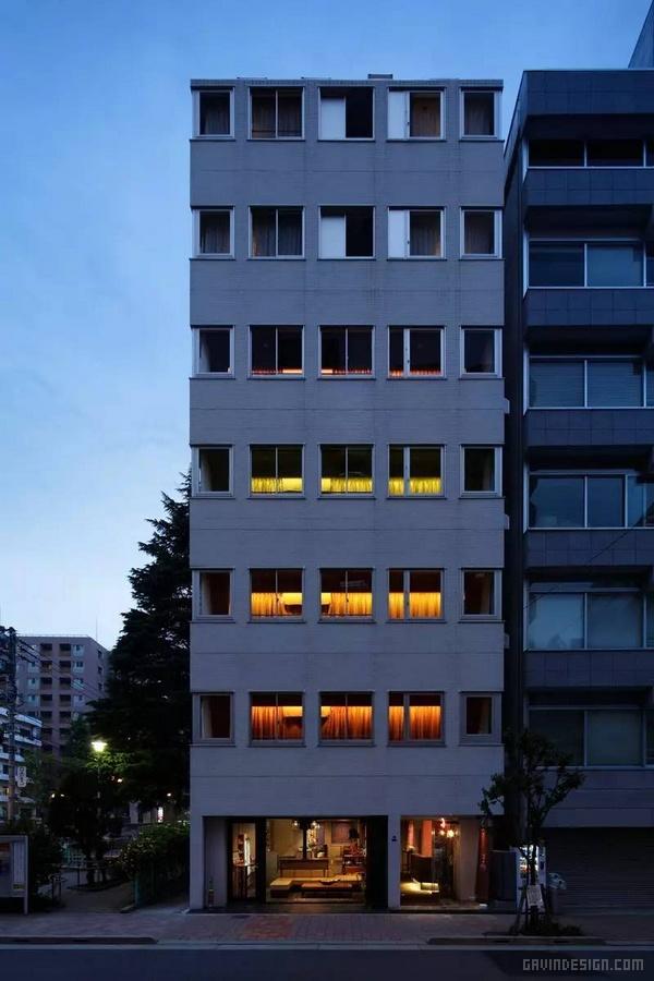 东京秋叶原的网格旅馆设计 酒店设计 日本 旅馆设计 东京
