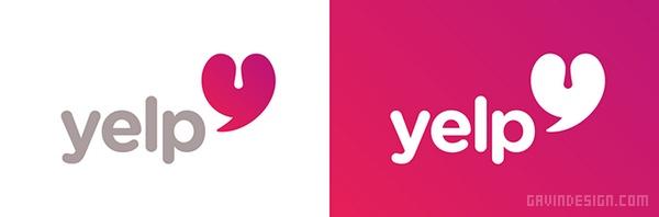 美国点评网站 Yelp 网站VI设计 网站设计 标志设计 VI设计 APP设计