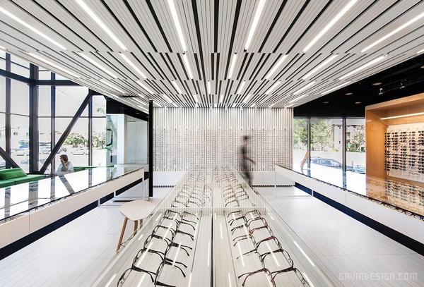 蒙特利尔 L'Aire Visuelle 眼科诊所设计 诊所设计 眼镜店设计 加拿大