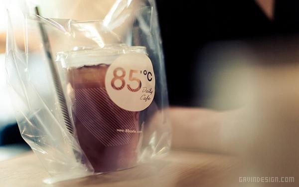 85°C 时尚饮品品牌形象设计 蛋糕店设计 海报设计 标识设计 名片设计 包装设计 VI设计 SI设计