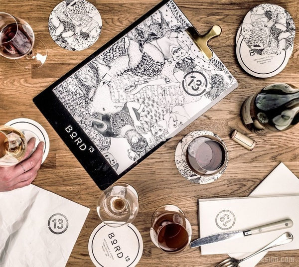 瑞典马尔默 Bord 13餐厅设计 餐厅设计 菜单设计 美国 画册设计 店面设计 VI设计 SI设计