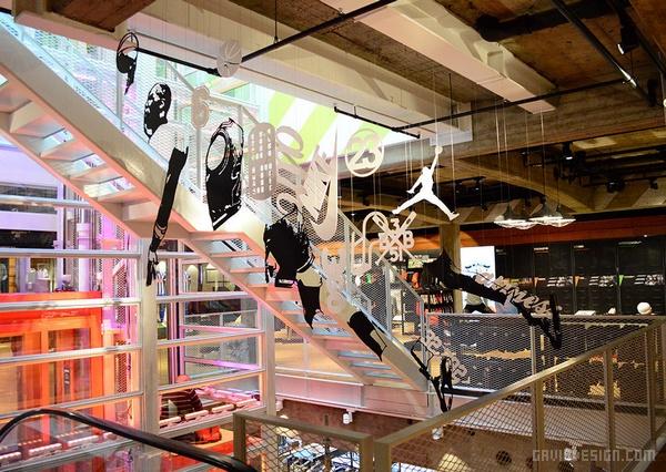 日本原宿耐克旗舰店设计 日本 旗舰店设计 店面设计 专卖店设计