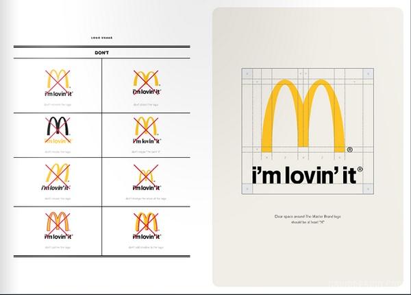 麦当劳企业VI手册设计 麦当劳 VI设计