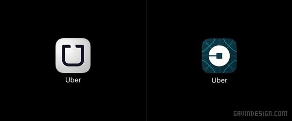Uber(优步)新品牌形象设计 标志设计 图标设计 品牌形象设计 VI设计 APP设计