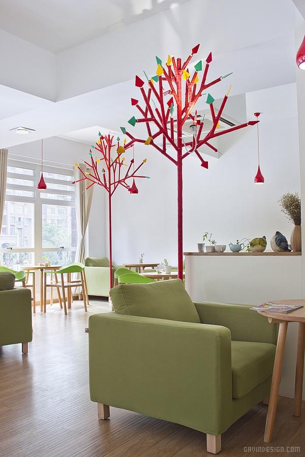 杭州滨江甘蓝咖啡馆设计 餐厅设计 店面设计 商业空间设计 咖啡馆设计 中国