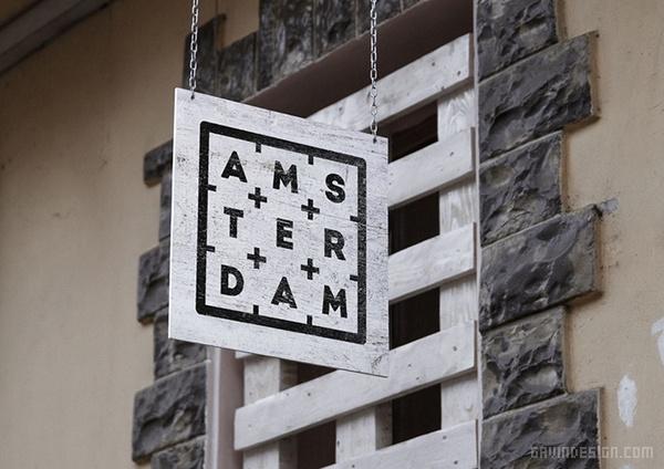 Amsterdam 连锁咖啡馆VI设计 饮品店设计 餐厅设计 咖啡厅设计 包装设计 VI设计 SI设计