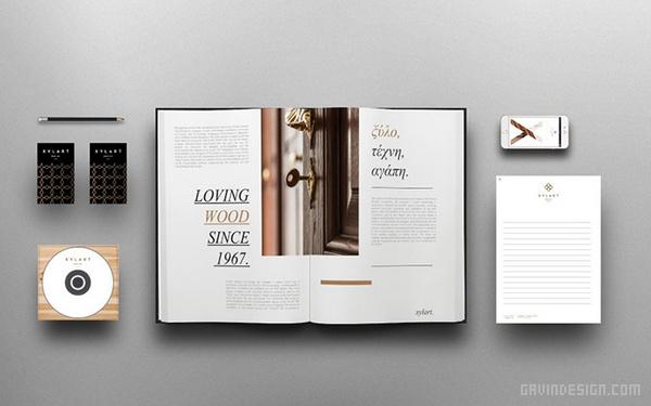 希腊 XYLART 家具企业VI设计 菜单设计 标志设计 品牌形象设计 名片设计 VI设计