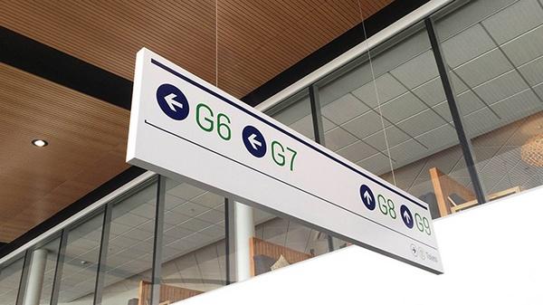 Queenstown机场视觉VI设计 网站设计 标识设计 导示设计 图标设计 VI设计