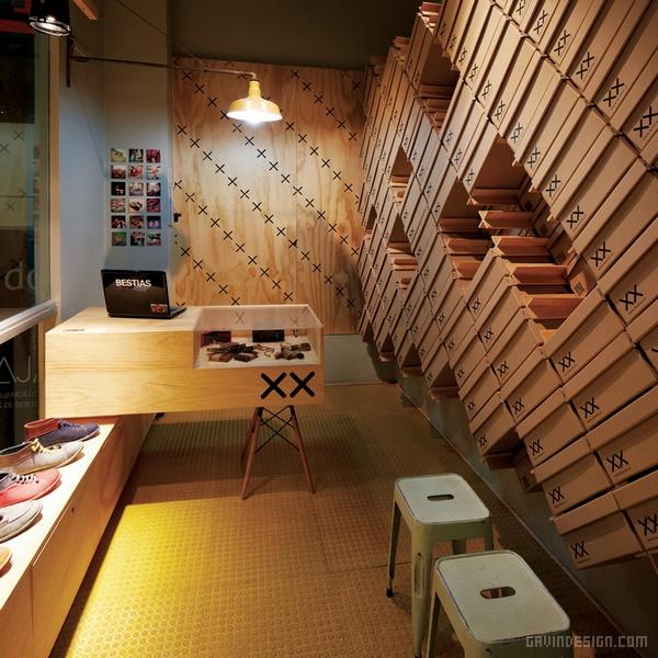 智利 Bestias XX 鞋店设计 鞋店设计 店面设计 商业空间设计 专卖店设计