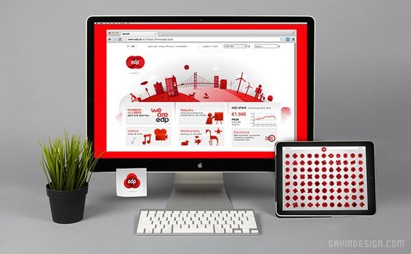 葡萄牙 EDP 能源企业VI设计 网站设计 标志设计 VI设计 APP设计