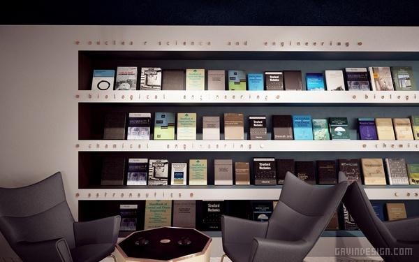 SCIENCE 学术咖啡图书馆设计 图书馆设计