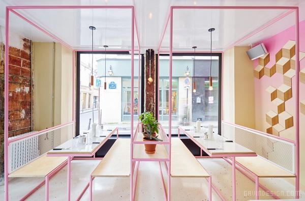 法国巴黎 PNY 汉堡餐厅设计 餐厅设计 法国 汉堡店设计 店面设计 商业空间设计