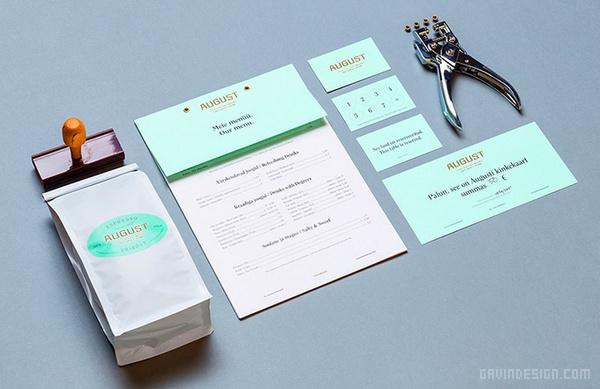 August 咖啡厅VI设计 餐厅设计 画册设计 标志设计 咖啡厅设计 VI设计