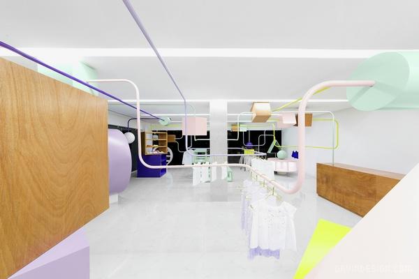 墨西哥 Monterrey Kindo 儿童精品店设计 精品店设计 店面设计 墨西哥 商业空间设计 专卖店设计