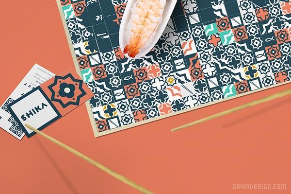 SHIKA 街头料理餐饮VI设计 餐厅设计 海报设计 标志设计 日本 VI设计 SI设计