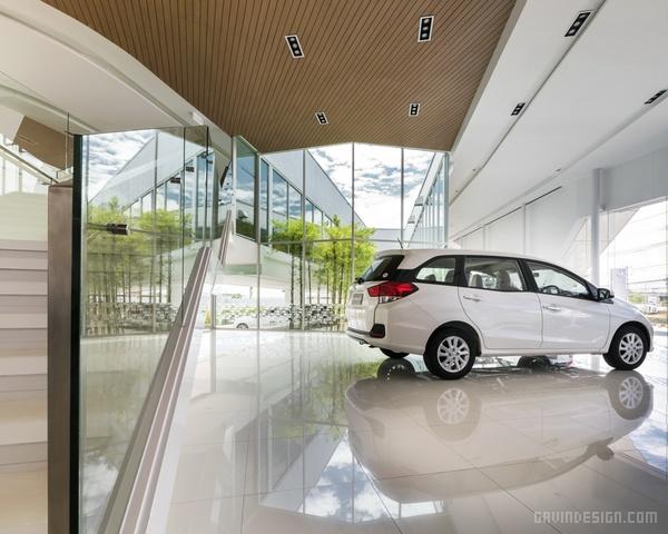 泰国曼谷本田 nakornchaisri 4s店设计 店面设计 展厅设计 商业空间设计 4S店设计