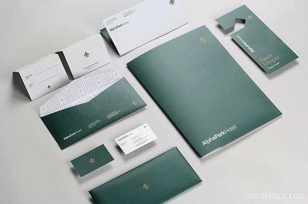 巴西戈亚尼亚 AlphaPark 酒店VI设计 标志设计 名片设计 包装设计 VI设计