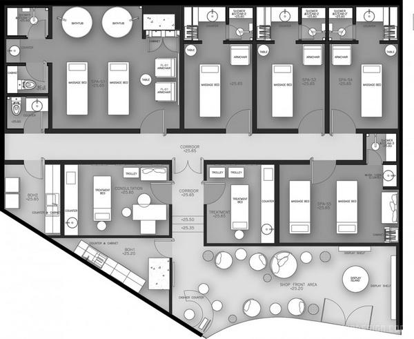 泰国曼谷 DII 健康水疗中心设计 美容店设计 泰国 水疗中心设计 商业空间设计