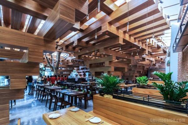 越南河内 Cheering 餐厅设计 餐厅设计 店面设计 商业空间设计