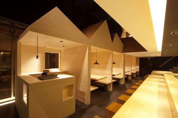 日本大阪 Shyo Ryu Ken 拉面店设计 餐厅设计 面馆设计 日本 拉面店设计 店面设计 商业空间设计