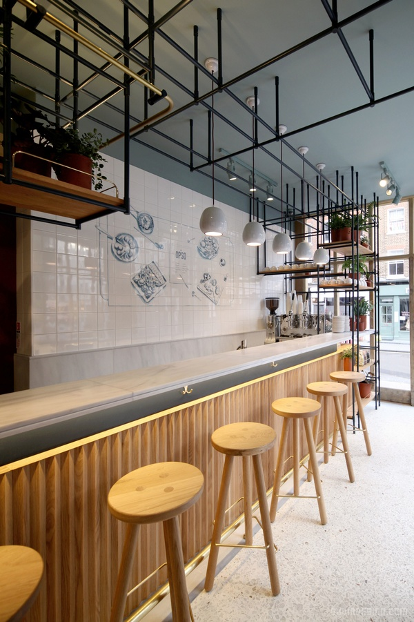伦敦 OPSO 餐厅设计 餐厅设计 英国 店面设计 商业空间设计
