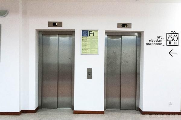 罗马尼亚布加勒斯特国家图书馆导示设计 导示设计