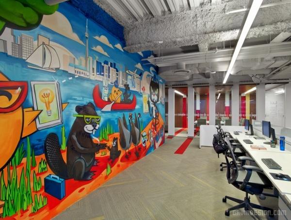 加拿大多伦多 LinkedIn 办公室设计 加拿大 办公空间设计 办公室设计
