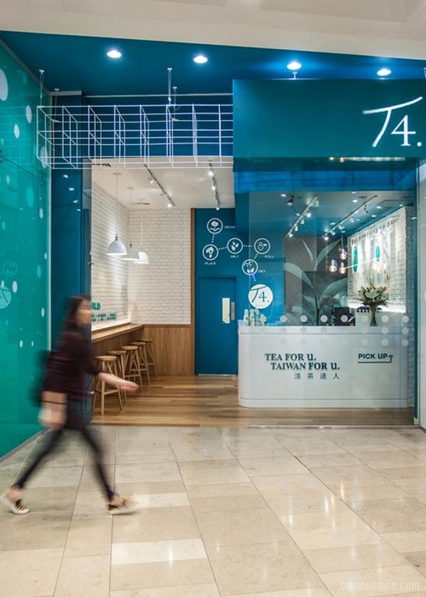 伦敦T4台湾珍珠奶茶店设计 饮品店设计 英国 店面设计 商业空间设计