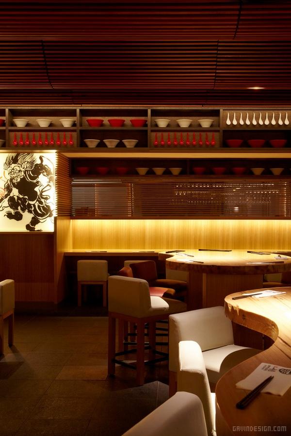 澳大利亚悉尼一风堂拉面店设计 餐厅设计 澳大利亚 拉面店设计 店面设计 商业空间设计