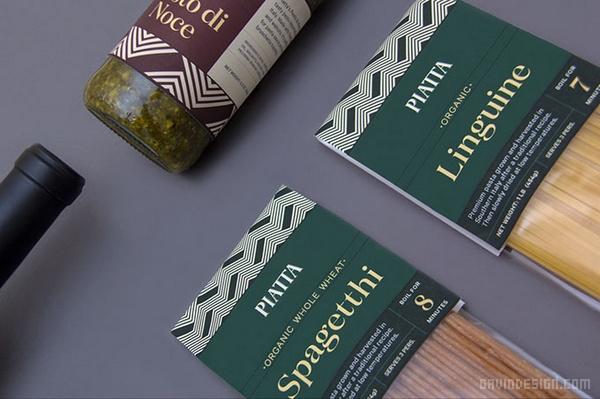 意大利 Piatta 面食店品牌VI设计 菜单设计 海报设计 标志设计 意大利 名片设计 VI设计