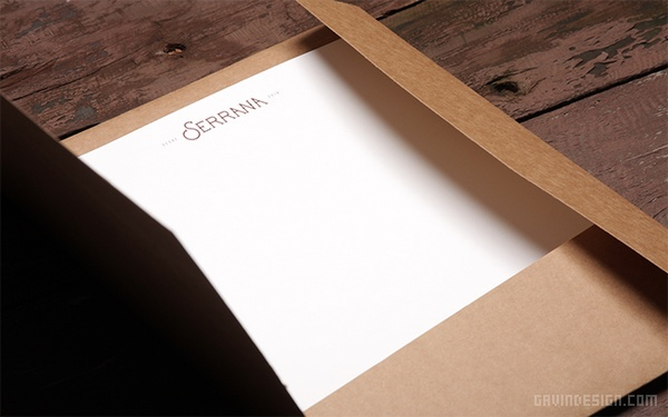 Serrana 服装品牌标志设计 画册设计 海报设计 标志设计 VI设计